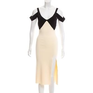 Self Portrait Slit-Accented Midi Dress